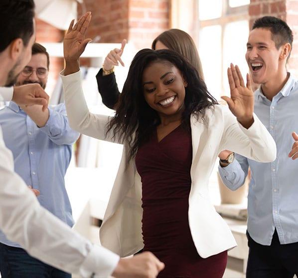 better communication better results celebration dance