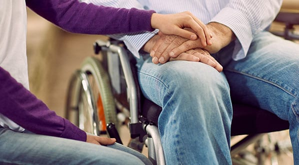 Elderly Lifestyle - care helping the elderly disabled